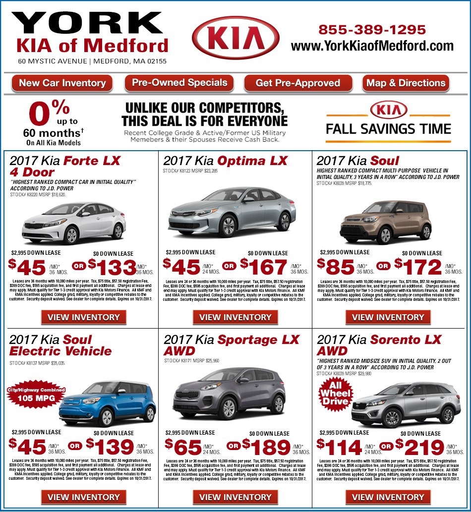 York kia of medford on shop new kia offers online for Kia motors customer service number