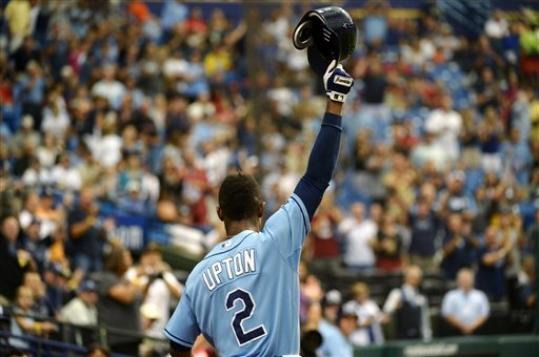 Perfect Upton Hits 3 Home Runs Rays Beat Rangers Boston Com
