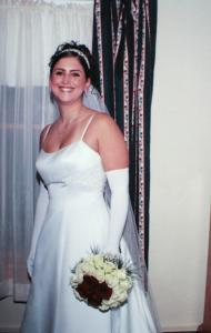 A photo of Barbara Jean (Scolaro) Tassinari in her wedding dress. Her husband is accused of shooting her multiple times Tuesday night in the driveway of their Abington home.