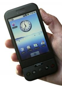 The G1 phone runs on Google's Android system.