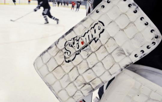 Teen goalie designs pads to trick shots - The Boston Globe 9f8613716
