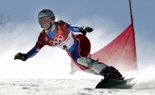 karine ruby snowboarder won gold at nagano at 31 the. Black Bedroom Furniture Sets. Home Design Ideas