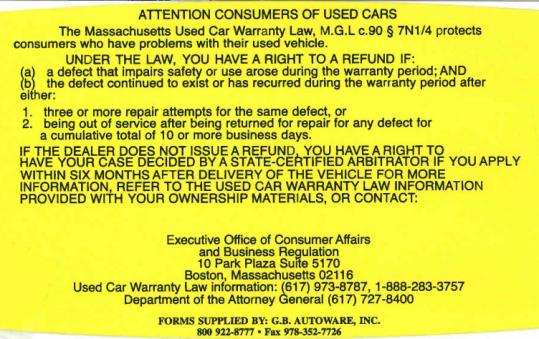 Used Car Lemon Law >> Massachusetts Laws Can Come To The Rescue If You Buy A Lemon The