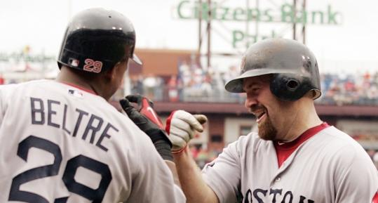 Red Sox' Youkilis Is Locked In, And Hard