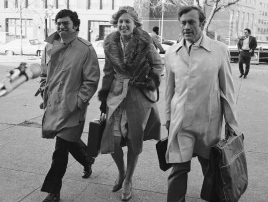 James F. Neal (right) with Watergate prosecutors Richard Ben-Veniste and Jill Volner in 1974.
