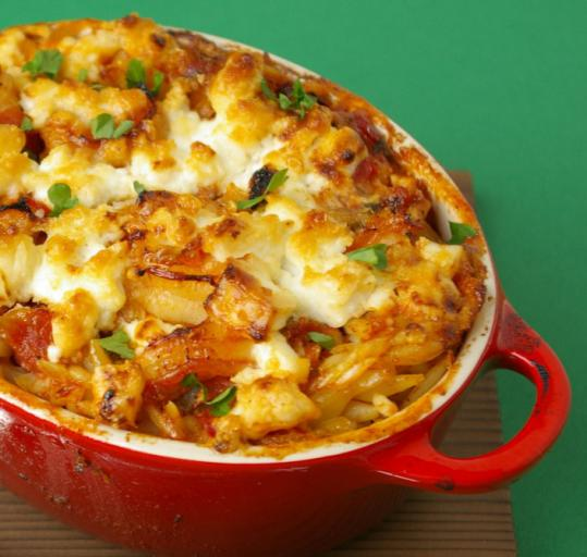 Baked Shrimp With Feta And Orzo