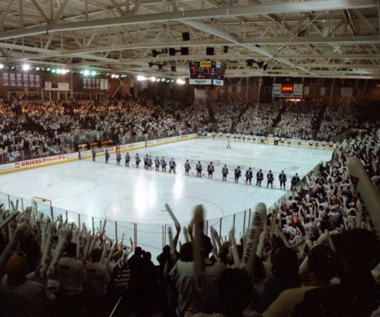 Most intimidating college hockey arenas in grand