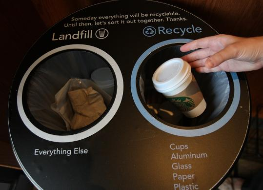 Starbucks looks for way to encourage paper cup recycling