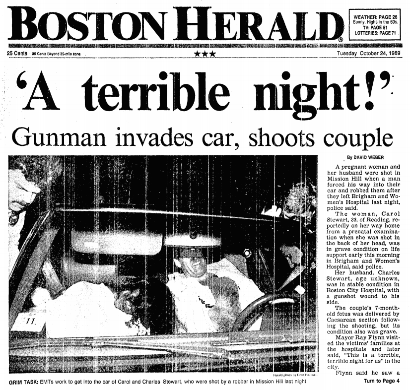 The Charles Stuart Murders And the Racist Branding Boston Just Can't