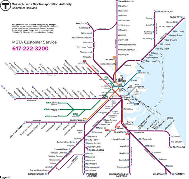 t train boston map This Geographically Accurate Mbta Map Shows Its Many Twists And t train boston map